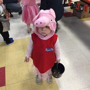 Peppa Pig Ballerina Halloween Costume Girl Dress